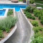 How to smooth out a rough concrete waterslide