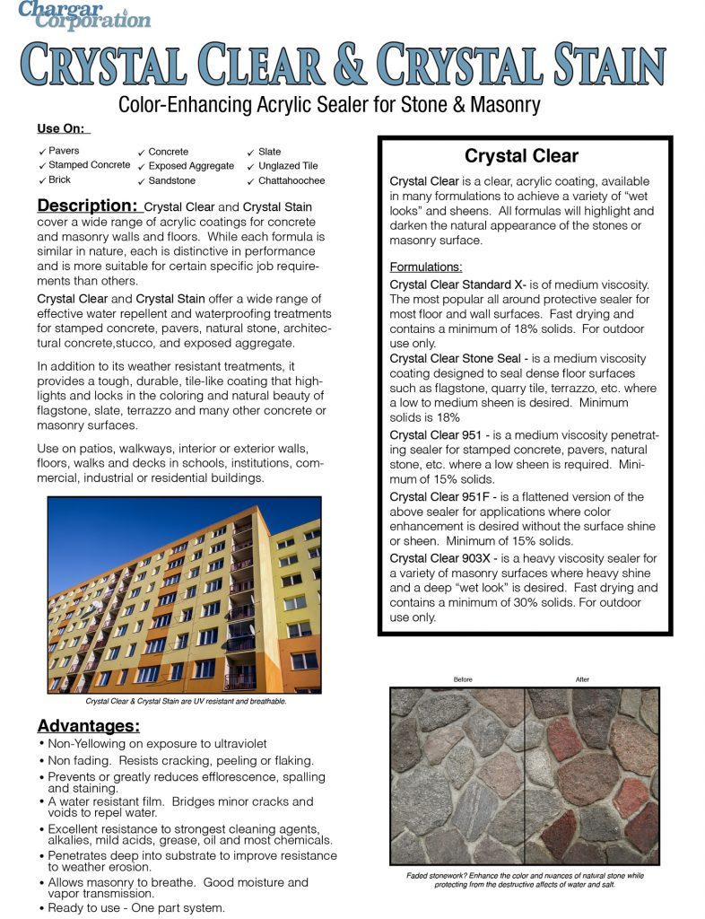 Crystal Clear data page 1a-1