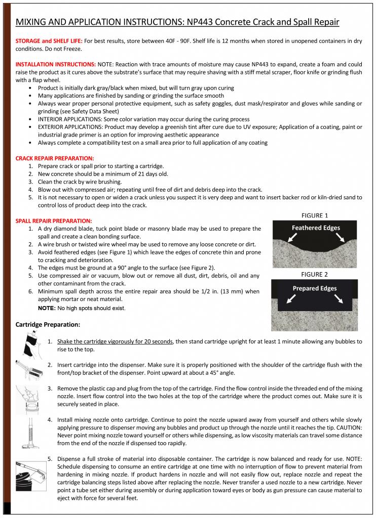concrete crack repair instructions