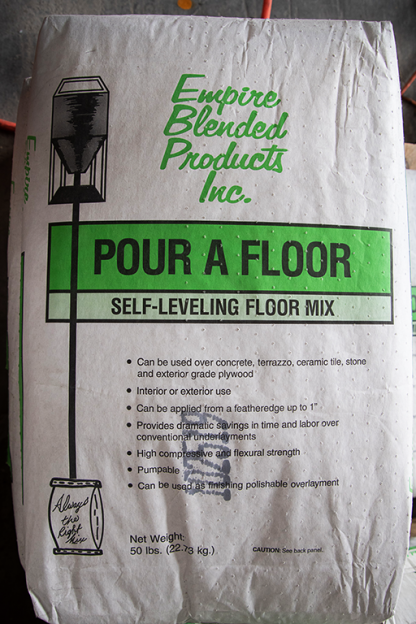 Pour A Floor Self Leveling mix
