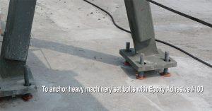 Epoxy bolt machinery